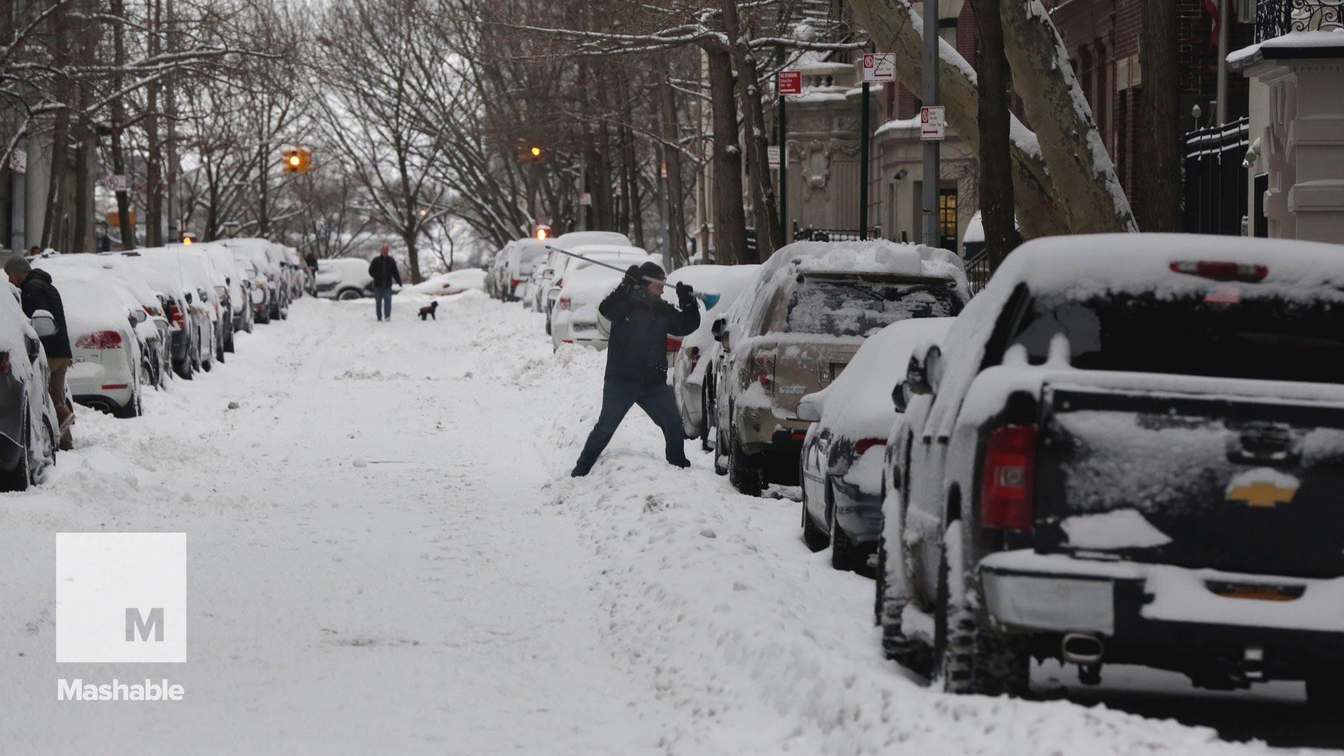 Rain or sun, wind or snow, nothing stops a delivery man