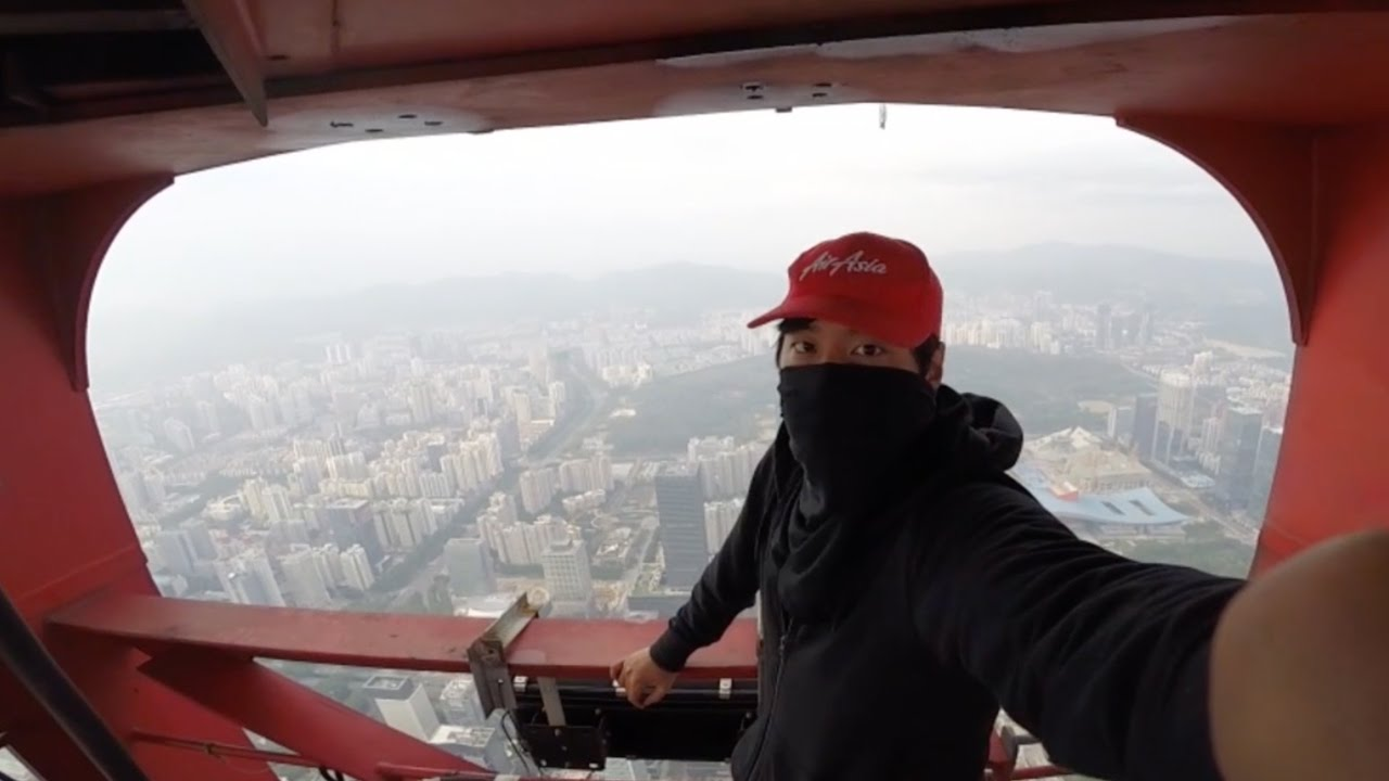 Dude climbs tallest building, still under construction, in China… secretly