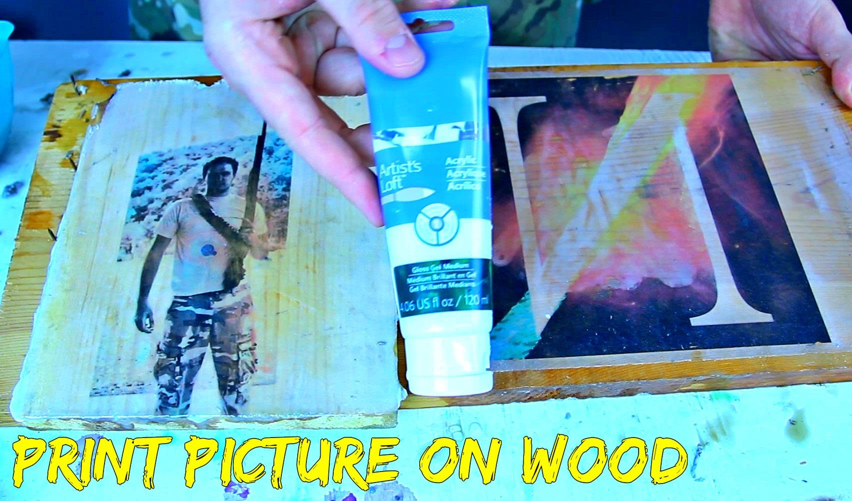 Have you ever tried to 'woodphoto' a picture? Here's how!