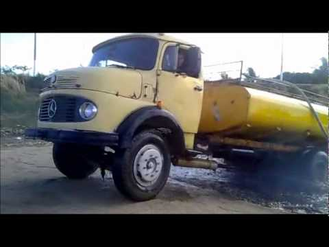 Truck nearly goes under in a lake!