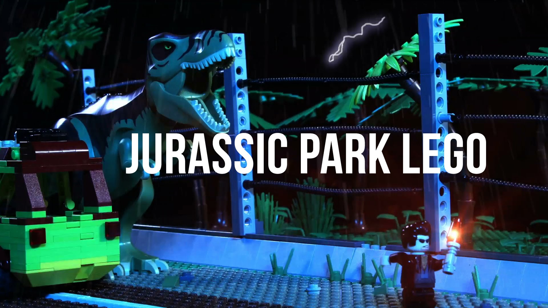 Father and daughter Lego Jurassic Park!