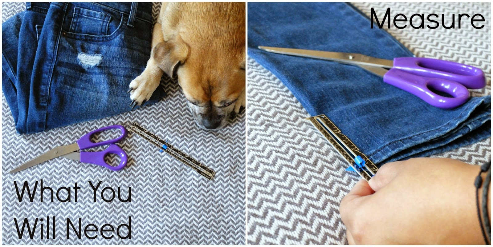 This amazing DIY with jeans knock me out of my pants, and you can easily do it yourself =)