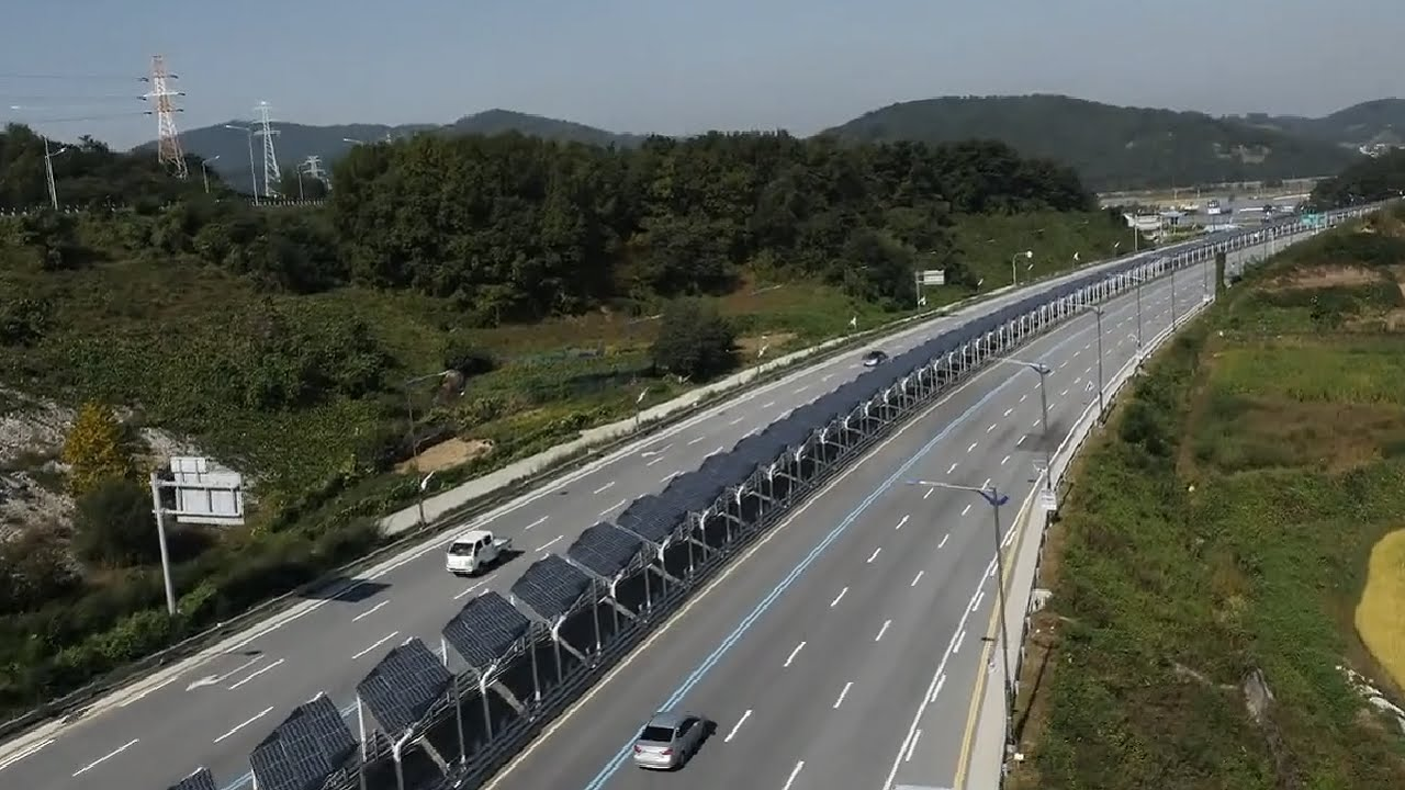 The 'solar' bike road in South Korea