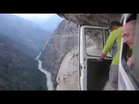 This is probably the most dangerous road in the world!