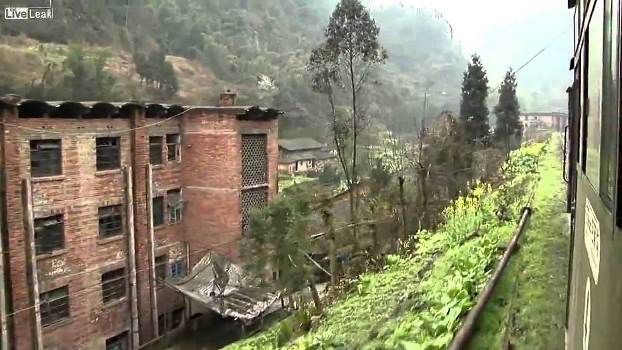 A rural train journey in China