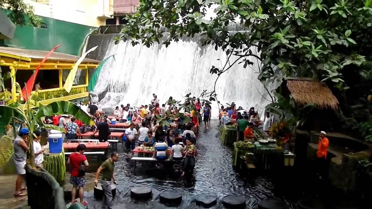 How about a lunch just by the waterfall?