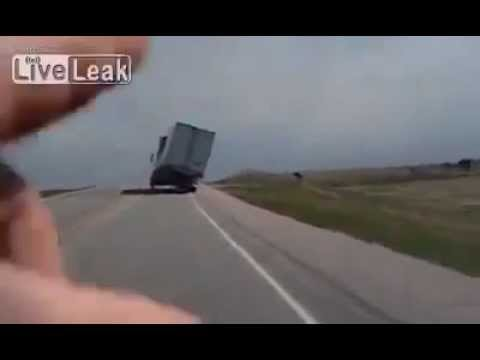 The wind, the truck, a great driver