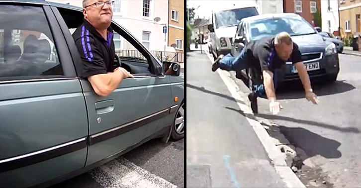 Confrontation With Cyclist Ended Really Badly For This Angry Driver