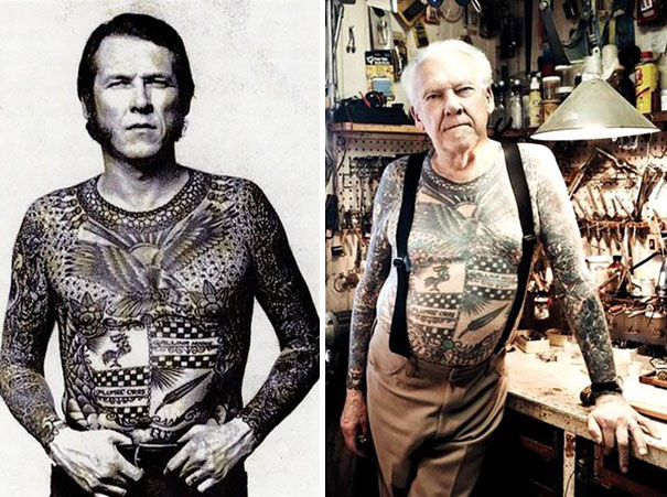 elderly people with tattoos